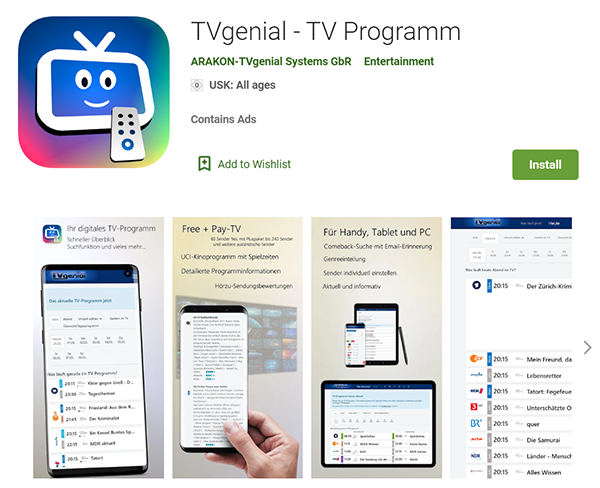 TV Programm Google Play